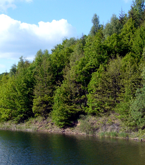 Csórréti víztározó, Mátra                         Bár kevesen ismerik, aki egyszer látta a mátraházi Csórréti-víztározó mesebeli vidékét, a kristálytiszta vizet, melyet erdős lankák vesznek körül, többé nem felejti el. Hazánk legmagasabban fekvő, ivóvízellátást szolgáló víztározóját öt patak táplálja, melyek a tóban egyesülve teszik teljessé a varázslatos látványt.
