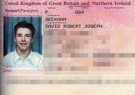 A fiatal David Beckhamet nehéz volna felismerni csupán a kép alapján.