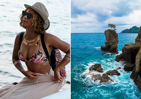 Beyoncé is Olaszországban, Portofino partjainál nyaralt.