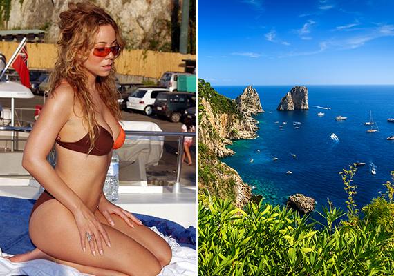 Mariah Carey Európában pihent, úti célja az olasz sziget, Capri volt.