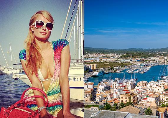 Paris Hiltonnal kapcsolatban nem nehéz elképzelni, mivel varázsolta el a spanyol sziget, Ibiza.