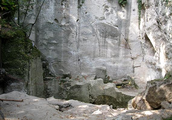 Árpád feltételezett sírját kutatva Sashegyi Sándor régész 1939-ben fel is tárt egy hatalmas, faragott sziklafalat, ahol szarvas- és lócsontokat, egy kehelytartó sírszobor töredékét, valamint egy 65 év körüli nő csontvázát találták meg, mellette kristály méregpohárral. A képen a Nagy-szikla látható.