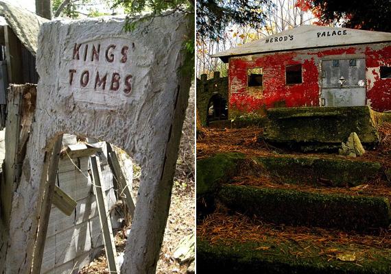 A Királyok síremlékének kapuja ma már düledezik, a Heródes palotája nevet viselő épület pedig roskatag tákolmánnyá vált.