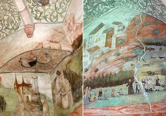 Ennek ellenére rengeteg turista látogat ide, hogy megcsodálja a vár ősi szépségét, vagy például azt, ami a falra festett freskókból maradt.