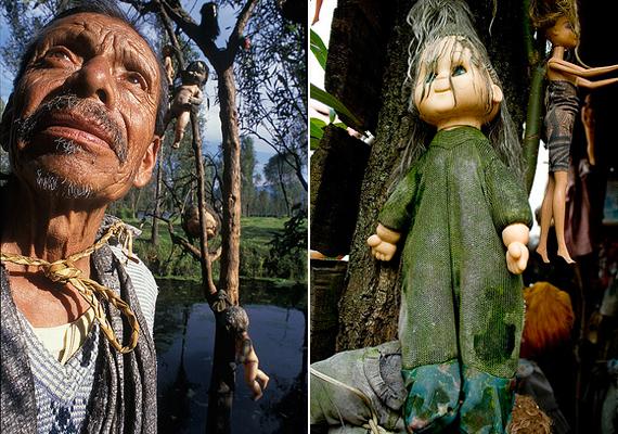A szóbeszéd úgy tartja, a sziget egykori lakója, Don Julian Santana Barrera - a bal oldali képen - a sziget mellett egy kislányt talált holtan, a csatornába fulladva.