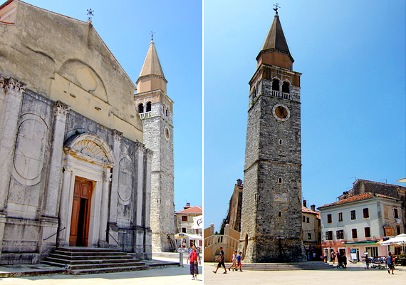 A város főterén számos régi épületet lehet megcsodálni, például a középkori templomot és harangtornyot.