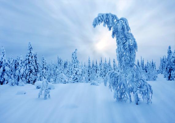 Lappföld vidéke sem maradhat ki a legszebb téli tájak közül. Kattints ide a háttérképért!