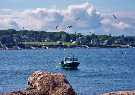 Az amerikai South Bristol városához tartozik a Christmas Cove, azaz a Karácsony-öböl, melynek lakói főként halászatból élnek.