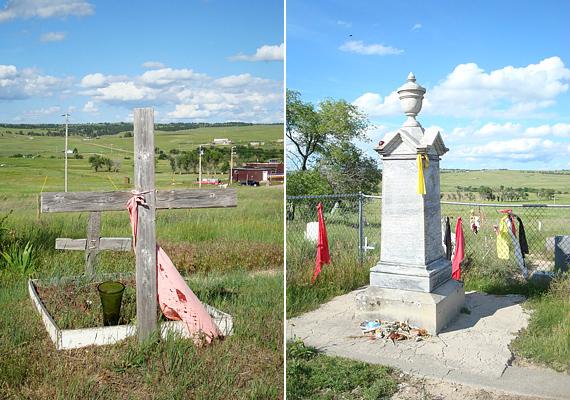A Wounded Knee temetőben a nagy sziú mészárlás áldozatai nyugszanak - szellemeik a legenda szerint a mai napig őrzik a sírkert földjét.