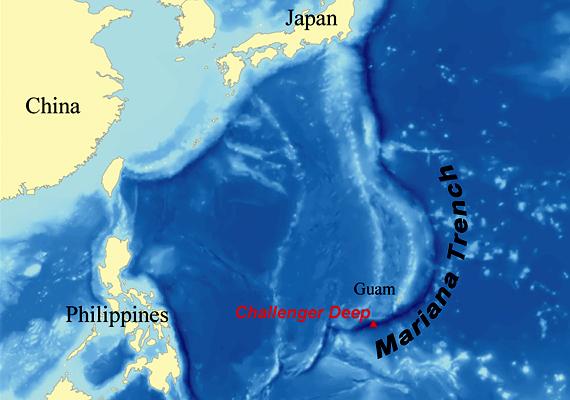 A Mariana-árok Japán közelében, Tokiótól 2400 kilométerre található. A közelében helyezkedik el a vulkáni működéseiről ismert Mariana-szigetcsoport is.