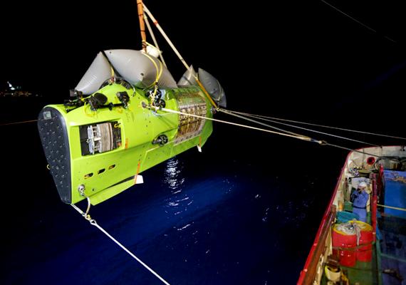 A Deepsea Challenger nevű tengeralattjáró valójában egy hétméteres kapszula.