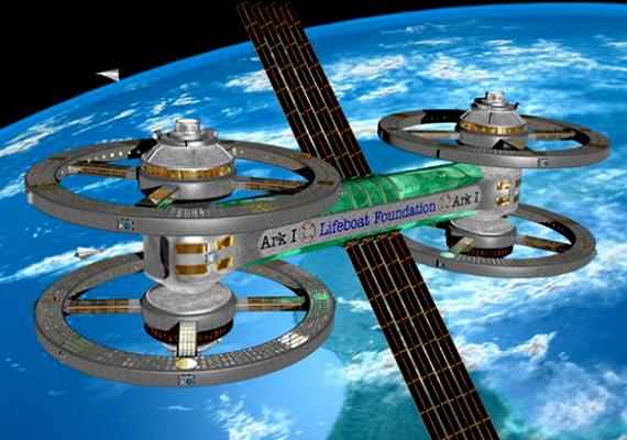 Míg vannak, akik a föld alatt képzelik el a túlélést, a Lifeboat Foundation, vagyis a Mentőcsónak Alapítvány már megtervezte az Ark I-et, vagyis a Bárkát, az első űrbéli kolóniát.
