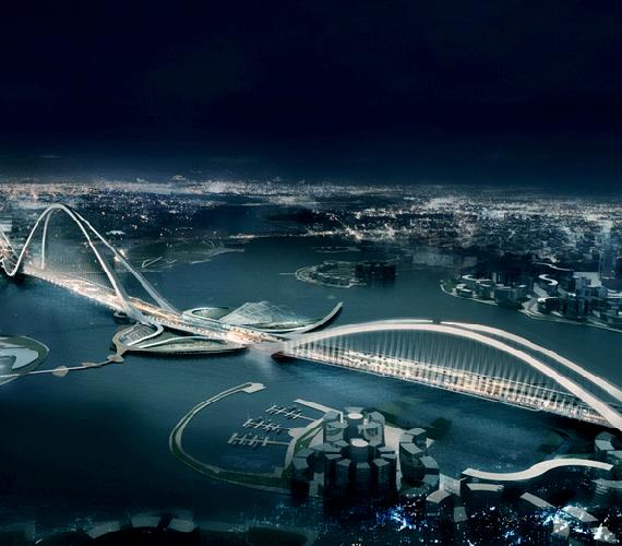 Dubaiban 2012-re készül el minden idők legnagyobb és leghosszabb ívhídja.