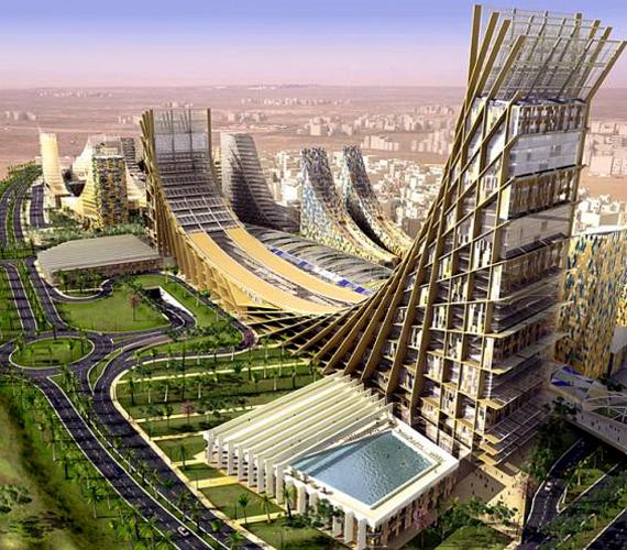 Kuvait futurisztikus városát, Khabaryt úgy hirdetik, mint a világ egyik első, jövőbeli önfenntartó metropoliszát.