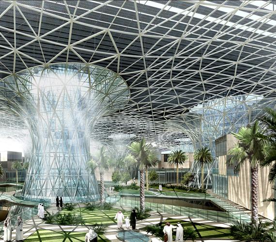 Az Abu Dhabi nemzetközi repterének közelébe tervezett Masdar City igazi ökováros lesz.