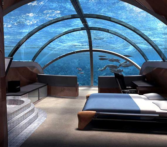 A Poszeidónról elnevezett víz alatti hotel Fiji magánszigetén várja majd a turistákat.