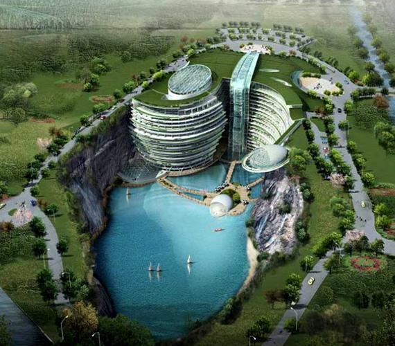 A kínai Waterworld Hotel egyike a világ leglátványosabb épületterveinek.