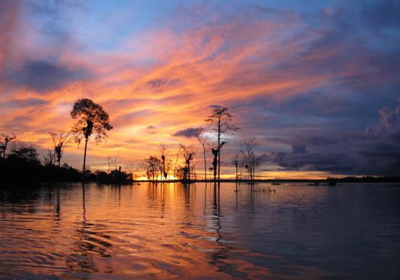 Az Amazonas a világ egyik leghosszabb folyója, Dél-Amerika hosszának 40%-át teszi ki.