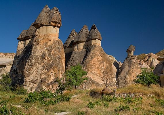 A különös, kúp alakú képződmények a vulkáni működésnek köszönhetik létüket, a könnyen alakítható vulkáni kőzeteket az időjárás erodálta.