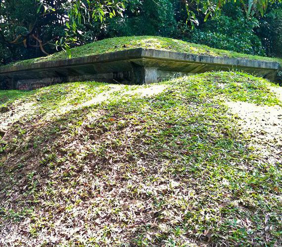 A szingapúri dzsungel ideális helynek számított a bunkerek telepítésére. Ma is számos ilyen épületet fedeznek fel.