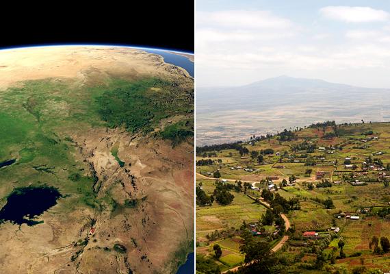 A Kelet-afrikai-árkot szokás Nagy Hasadékvölgynek is nevezni. A törésvonalakat, melyek a NASA felvételén is jól látszanak, az afrikai és ázsiai lemezek távolodása hozta létre. Geológusok szerint a törés idővel teljesen szétnyílik, Kelet-Afrika pedig leválik a kontinensről. Kattints, és tudj meg többet!