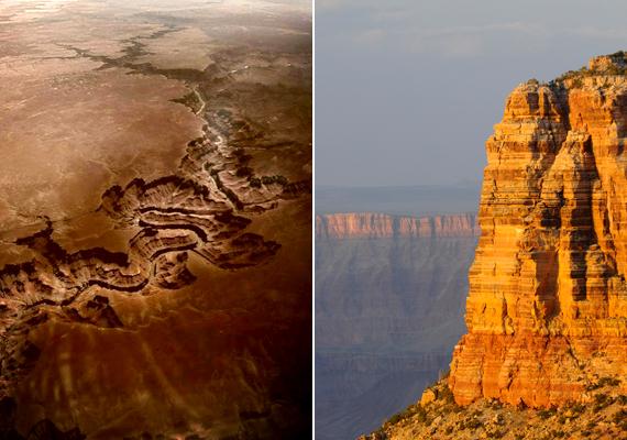 Bár esetében a Colorado folyó által kivájt szurdokról van szó, az Amerikai Egyesült Államokban, Arizonában található Grand Canyon látványa olyan, mintha megnyílt volna a föld.