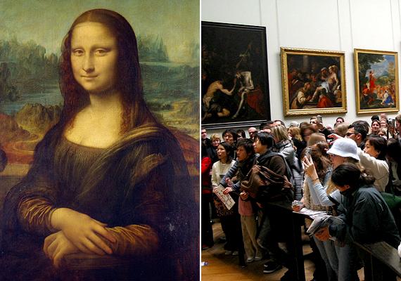 A Louvre-ban kiállított Mona Lista szintén sokak számára okoz csalódást. Az érdeklődők csak messziről tekinthetik meg a túl kicsinek tartott képet, emellett a tömeg miatt sokszor még ezt is nehéz megvalósítani.
