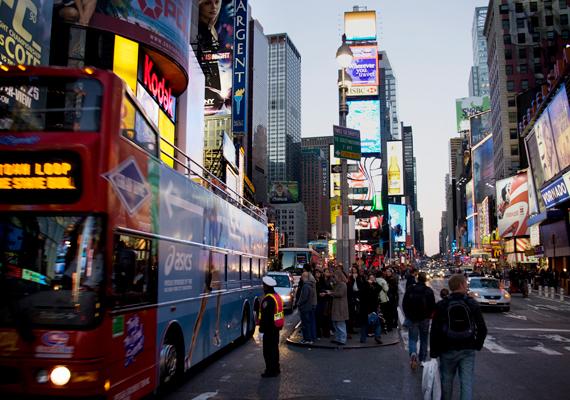 A Time Square szintén a nagy tömeg miatt lehet csalódás.