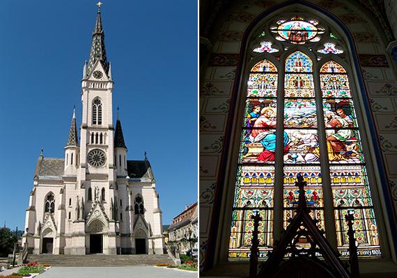 Kőszeg Fő terének jelképes épülete a Jézus Szíve-templom, mely a 19. század végén épült neogótikus stílusban.