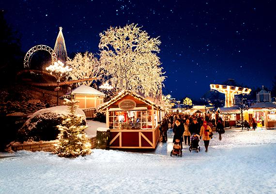 A svédországi Göteborg vidámparkja november-decemberben karácsonyi külsőt ölt: 5 millió izzóval, 700 karácsonyfával és 80 faházzal várja a látogatókat. A hagyományos vásáron kívül a Liseberg vidámparkban el lehet látogatni a régimódi karácsonyi kerületbe is, ahol szekerek hajtanak a macskaköves utcákon, és kórusok énekelnek az utcasarkon. A vidámpark egy másik részén pedig ennél is távolabbra utazhatnak az időben a látogatók: egyenesen a középkorba, ahol tanúi lehetnek a királyi udvar ünnepi készülődésének.