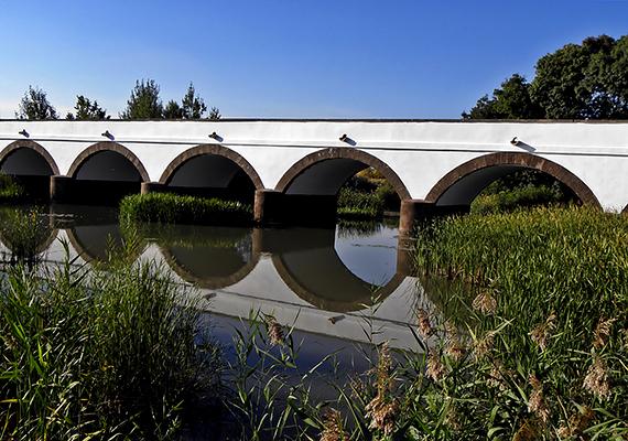 Az 1966-ban önálló községgé alakult Hortobágy így még Miskolcnál, Pécsnél vagy épp Szegednél is nagyobb. Nemcsak emiatt jelent azonban kuriózumot, a Hortobágy ugyanis tájegységként is hazánk egyik legkiemelkedőbb nevezetessége, mely egyúttal a Világörökségnek is részét képezi. A fotón a híres Kilenclyukú híd látható.