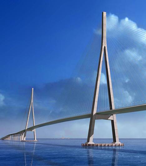 A leghosszabb kábelhíd  A világ leghosszabb fesztávolságú kábelhídja a mintegy 32,4 kilométer hosszú kínai Szutung-híd, mely a Jangce két partját köti össze.