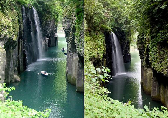 A japán Takachiho-szurdokot a Gokase-gawa folyó alakította ki. A hatalmas, gyönyörű sziklafalakon túl több túraútvonalat és vízeséseket is magában foglal.