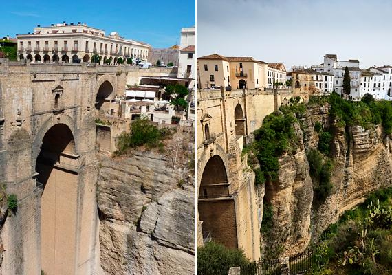 A spanyolországi El Tajo-szurdok arról is híres, hogy Ronda városa a két oldalára, a meredek sziklafalakra épült.