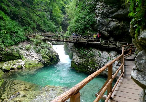 De nem is kell olyan messzire menned ahhoz, hogy vadregényes szurdokokban kalandozz: a szlovéniai Vintgar-szurdok az egyik legszebb a világon.