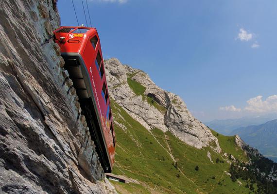 Többféleképpen meg lehet közelíteni a hegycsúcsot, a leglenyűgözőbb azonban minden kétséget kizáróan az úgynevezett Aranykörút. Luzernből hajó visz el a hegy lábához, Alpnachba, ahonnan a világ legmeredekebb fogaskerekű vasútja már-már függőlegesen kapaszkodik felfelé utasaival a Pilatus csúcsáig. A fogaskerekűről a 40 perces út során a lélegzetelállító kilátás mellett gyönyörű alpesi rózsákat, kőszáli kecskéket és akár még zergéket is láthatnak a kirándulók.