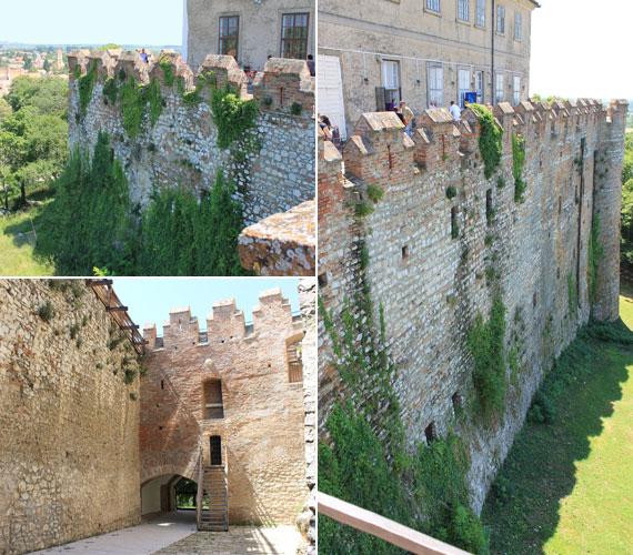 A várépületet körülölelő falakat is felújították, azokon az épület kényelmesen és biztonságosan körbejárható.