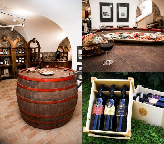 A bormúzeumban a siklósi és a villányi kistérség boraiból lehet válogatni. Van itt minden: fehér, vörös, rozé, de még habzóbor is, például Riczu Tamástól a kézműves Cimbora elnevezésű. Különleges kulináris élvezettel kecsegtetnek a borzselék is.
