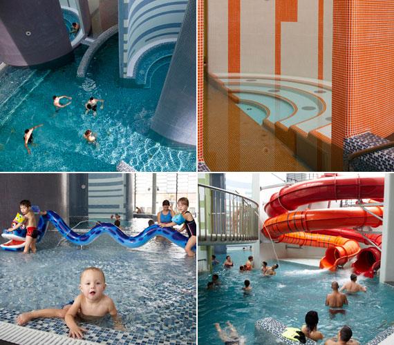 A termálfürdő belsejében a medencéket körülvevő színes bástyák különleges hangulatvilágukkal a vár biztonságos falait jelképezik. Minden egyes bástya belsejében meglepetésélmények várják a fürdőzőket. A kisgyerekes családok alkotják a fő célcsoportot.