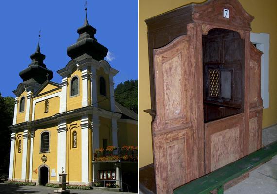 A Nagyboldogasszony-templom és a gyóntatószék. Az egyik leghíresebb csoda 1701-ben történt meg: állítólag hívők százai, ezrei előtt jelent meg Szűz Mária, karján a gyermek Jézussal.
