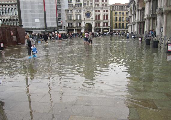 Velence, a szerelem városa az emelkedő tengerszint miatt a tengerbe süllyedhet. A Szent Márk téren olykor már térdig ér a víz.