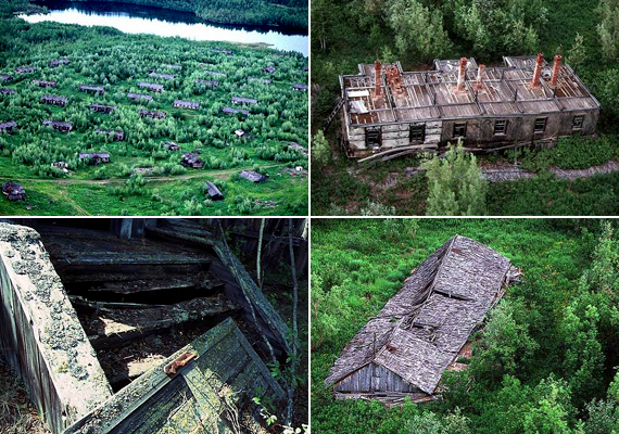 A Taga-erdőben található tábor romjai - bár ma nehezen megközelíthetők - hűen őrzik a múlt nyomait.