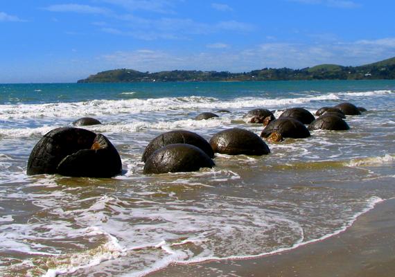 Számtalan különös gömb borítja a tengerpartot.