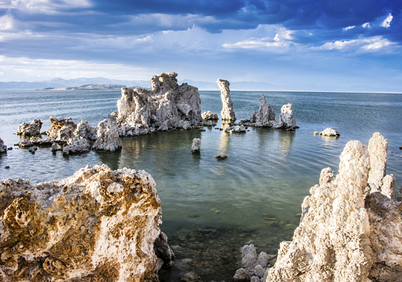 A tó lúgos vizének karbonátjai lépnek kölcsönhatásba azon források vizében található kalciummal, melyek a tavat táplálják.