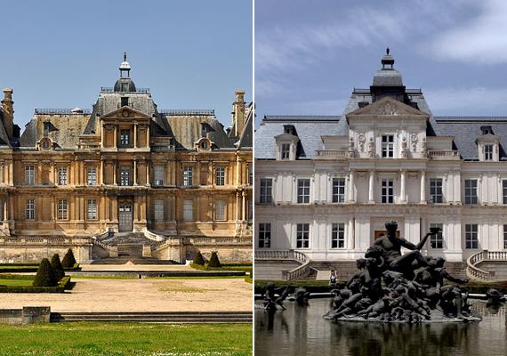Csakúgy, mint a Párizs külvárosi részén található Château de Maisons-t, melynek mását állítólag több mint tízezer fotót felhasználva építették fel Pekingben. A másolat a jobb oldali képen látható.