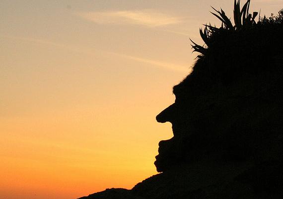 A kaliforniai Laguna Beach partját őrzi ez görbe orrú, göcsörtös állú boszorkány, mely az itt élők nagy kedvence.