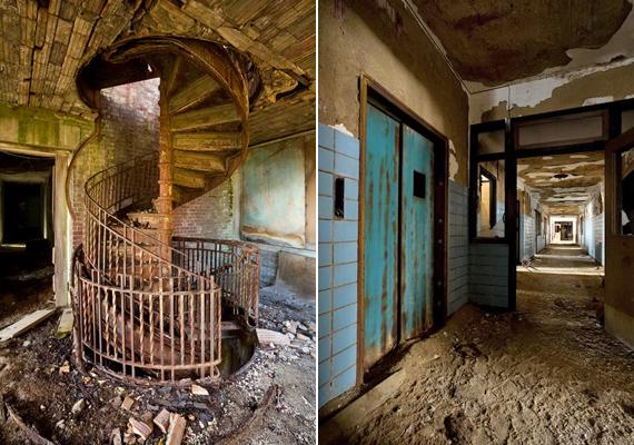 A déli és a keleti szárnyat összekötő csigalépcső és a fő folyosó is kísérteties. Bár a hely mára sem lett hivatalos turistalátványosság, vannak utazók, akik nem félnek felkeresni.
