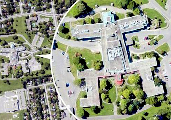A Kanadában, Ontarióban található, Newmarket Health Centre meghökkentő képet mutat a Google Earth felvételein, melyet nem kell különösképpen magyarázni.