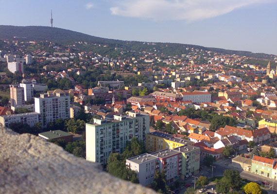 Pécs látképe.