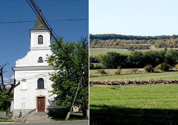 Pilisszenkereszt Budapesttől nem messze, Szentendre közelében található a Pilis völgyében, a Pilis és a Dobogó-kő alatt. A bal oldali képen a plébániatemplom látható, a jobb oldali fotó pedig a falu határában készült.